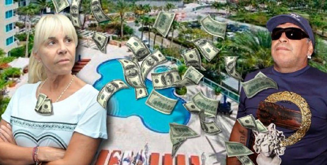 Claudia Villafañe le respondió a Diego Maradona por los departamentos de Miami