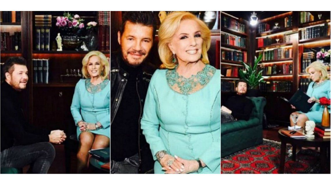 Tinelli y Mirtha Legrand