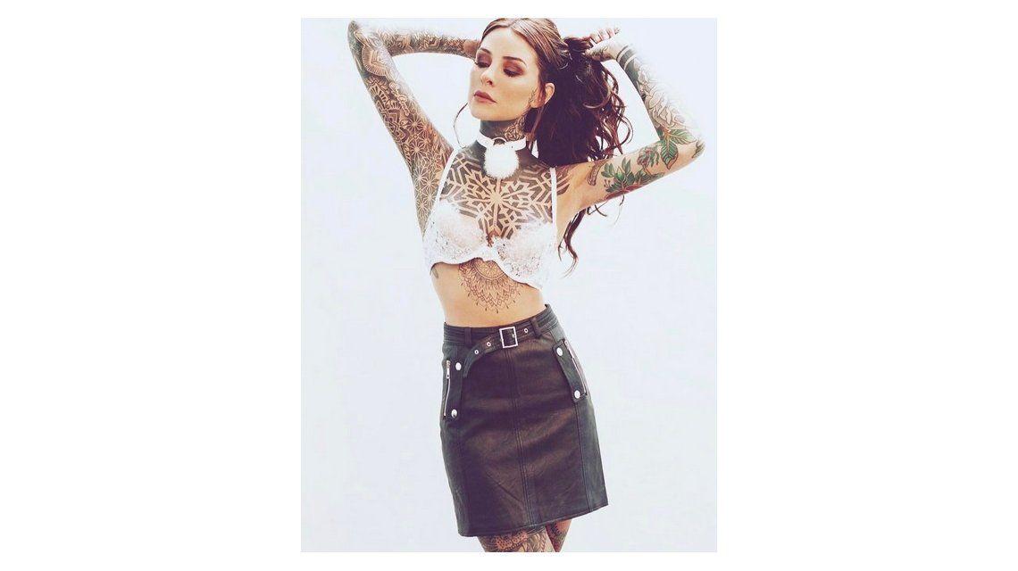 Un fanático se tatuó a Cande Tinelli en ropa interior: ¡mirá cómo le quedó!