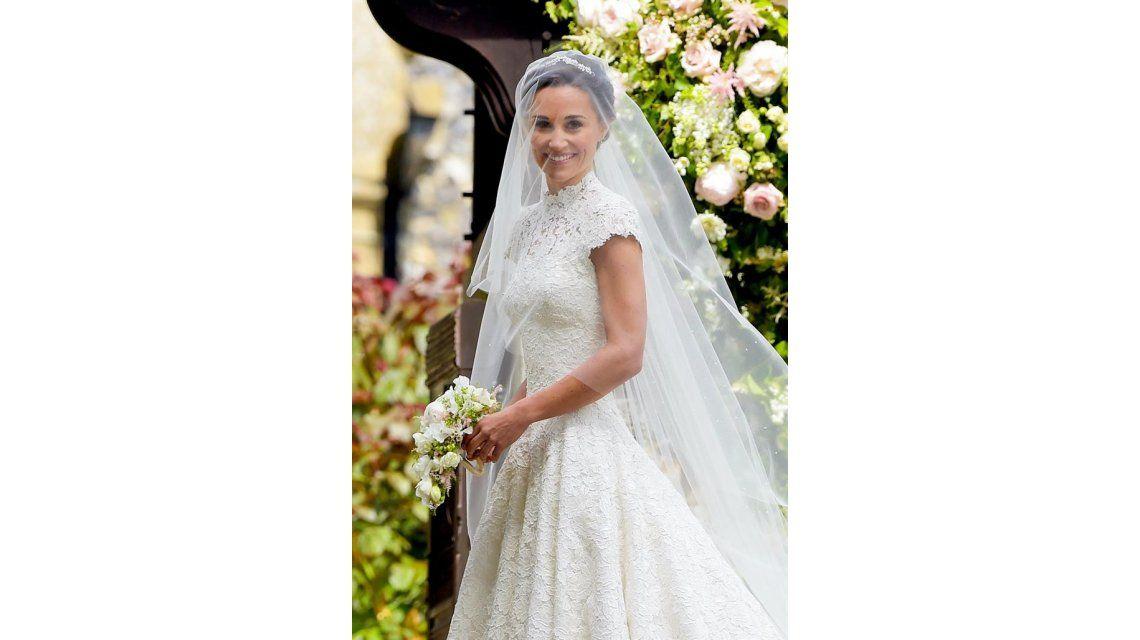 Pippa Middleton llegó a la ceremonia en la Iglesia St Marks
