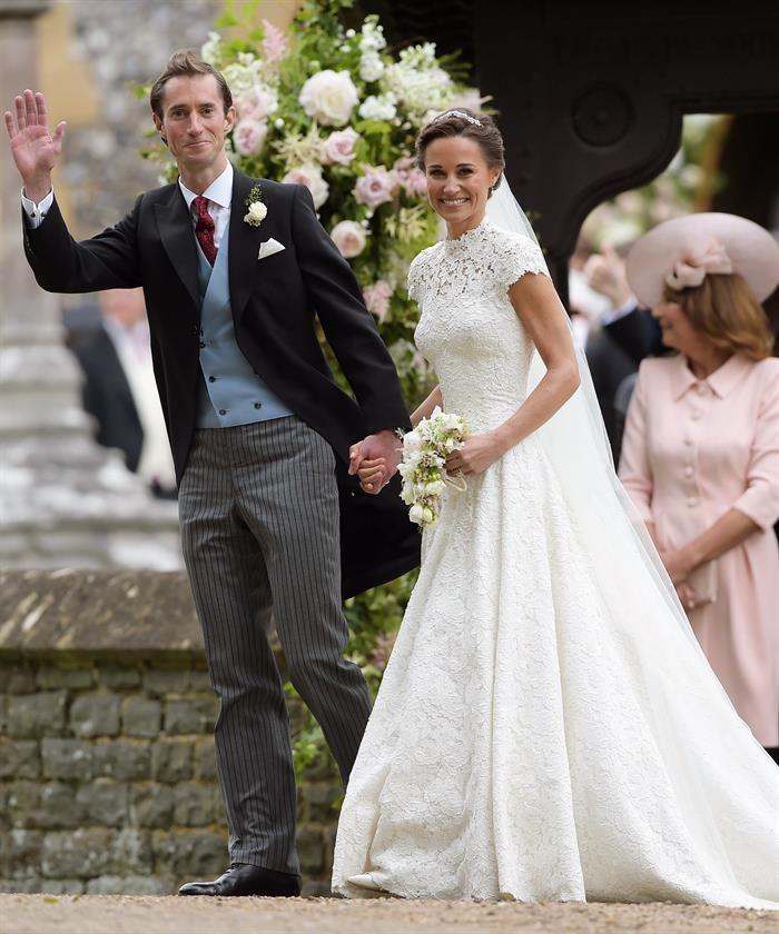 Pippa Middleton y James Matthews en su boda