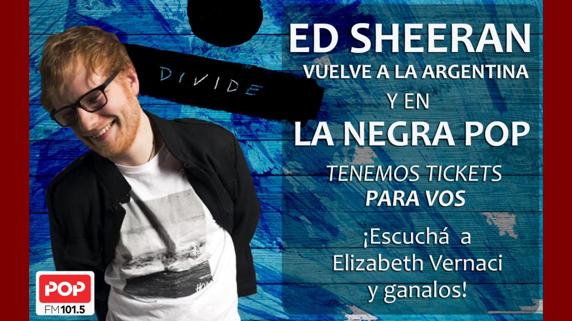 Pop Radio 101.5 te regala entradas para ver a Ed Sheeran