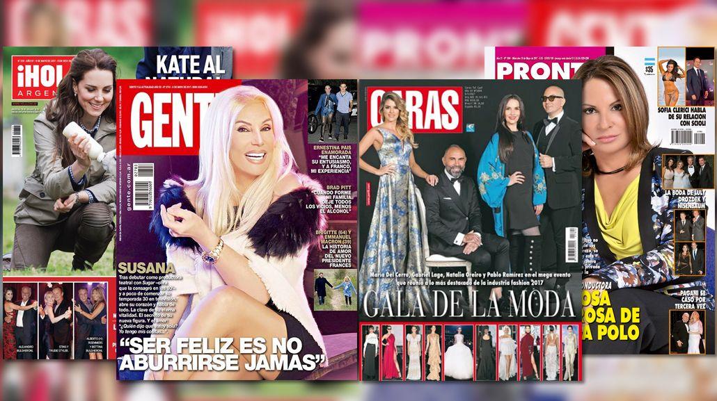 Susana Giménez y la doctora Polo en las tapas de las revistas