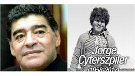 Diego Maradona expresó su lamento por la muerte de su primer representante