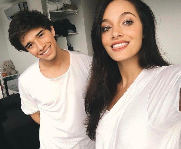 Una de las últimas fotos de Julián Serrano y Oriana Sabatini en Instagram