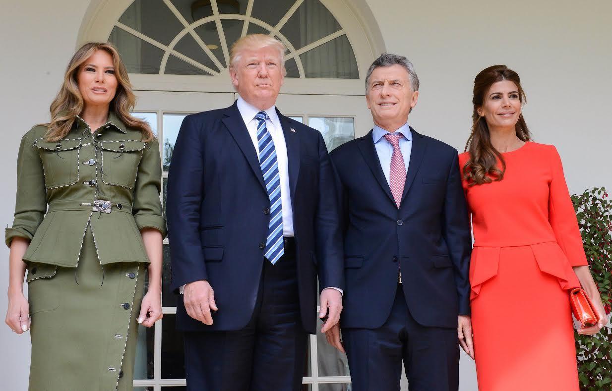 La hija de Tinelli vistió a Awada para el encuentro de Macri con Trump