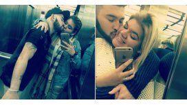 Morena Rial y su novio Martín Casar, súper enamorados.