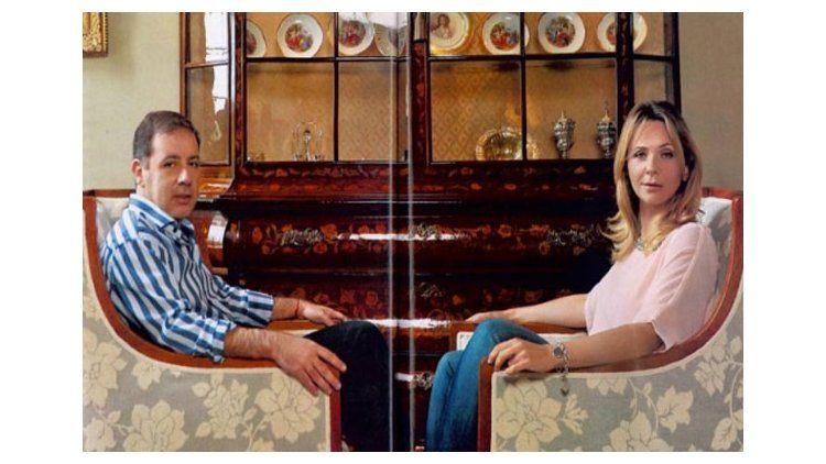 Fuerte cruce entre Fabián Doman y Evelyn Von Brocke en vivo