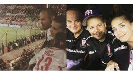 René de Calle 13, Soledad Fandiño y Milo en la cancha de Huracán