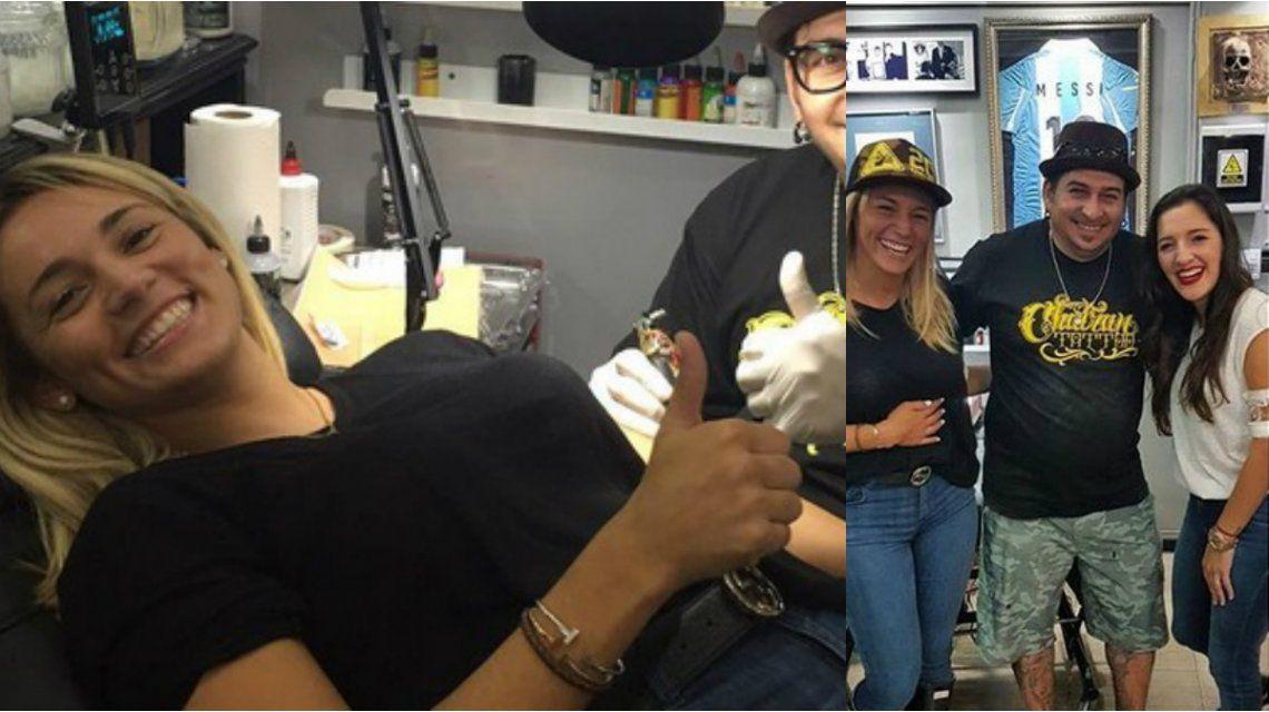 Rocío Oliva y Jana Maradona se tatuaron juntas