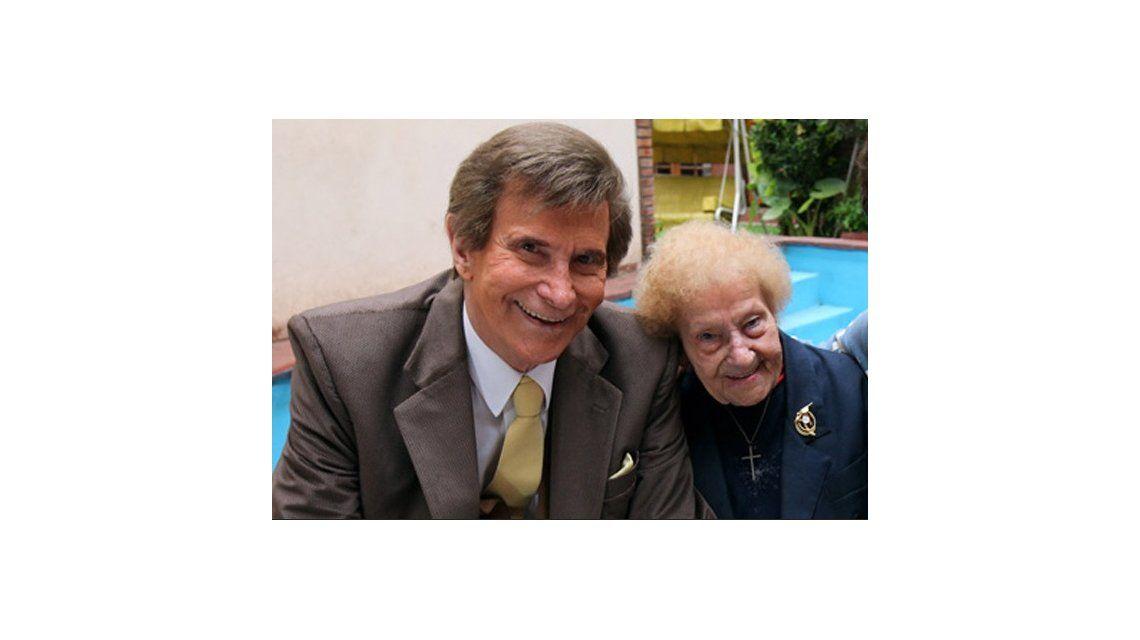 Silvio Soldán y su madre