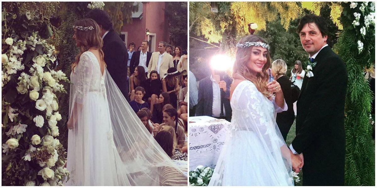 Sol Estevanez se casó con una súper boda en un campo