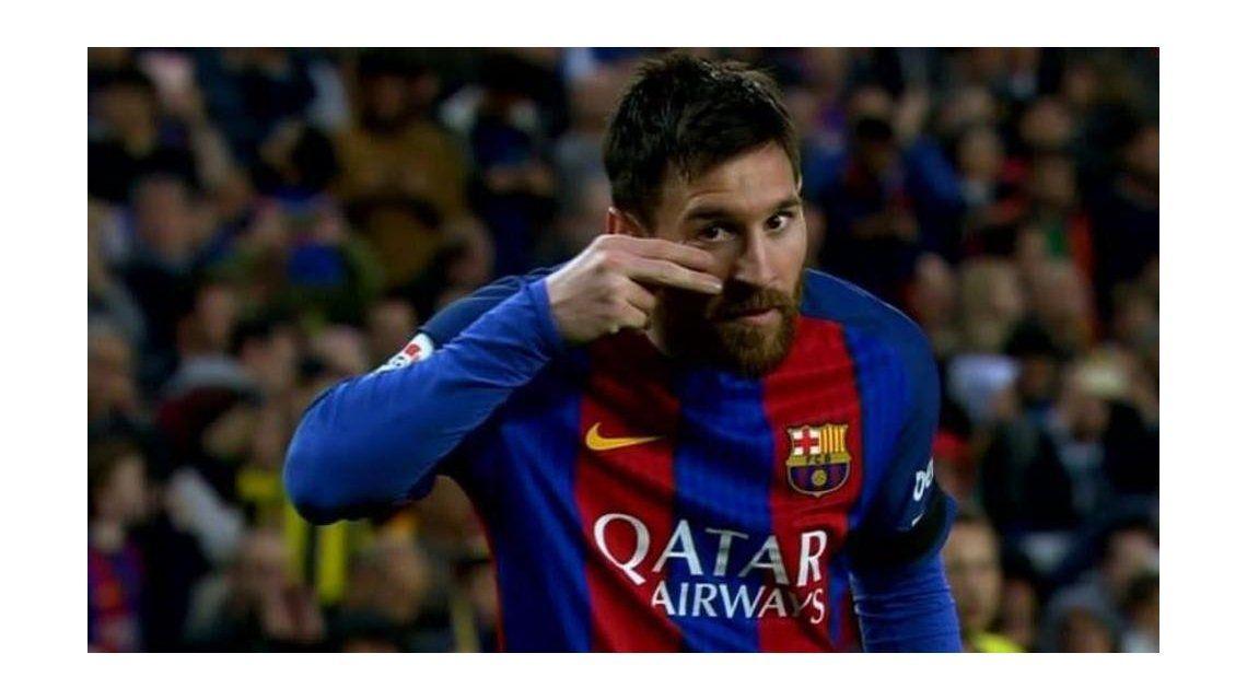 El curioso festejo de gol de Lionel Messi