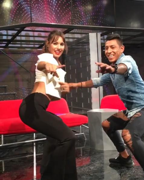Pampita bailando sensual con Brian Sarmiento