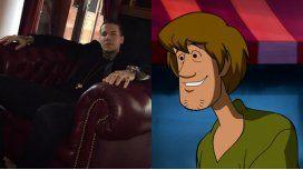 Alexander Caniggia y su look a lo Shaggy de Scooby Doo