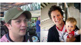 Darío Lopilato recibió a Noah en Ezeiza: Luisana va a hablar más adelante