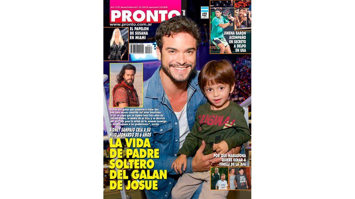 Tapas de revistas: Sidney Sampaio, de Josué, y Nico Vázquez con Gimena Accardi en Bahamas