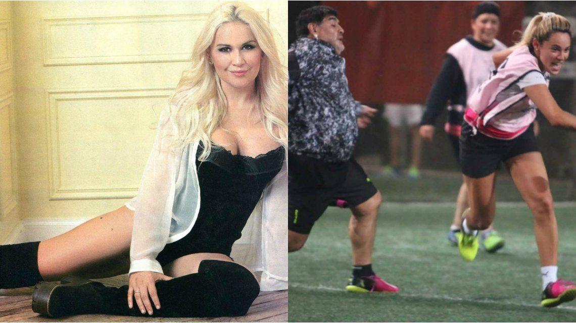 Verónica Ojeda reconoció que le gusta que se peleen Maradona y Rocío Oliva