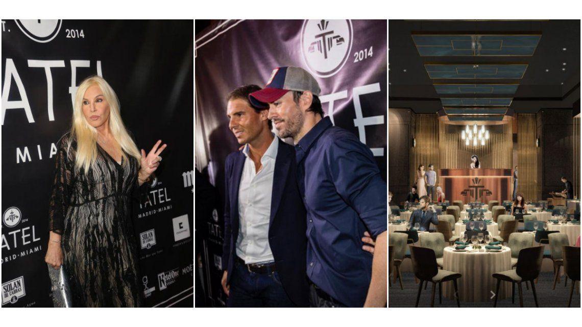 Susana Giménez, en Miami: fue a la inauguración del restaurant de Rafael Nadal y Enrique Iglesias