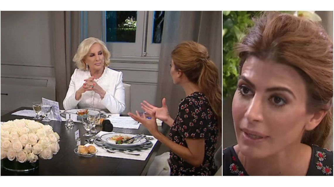 Juliana Awada y Mirtha se cruzaron en vivo