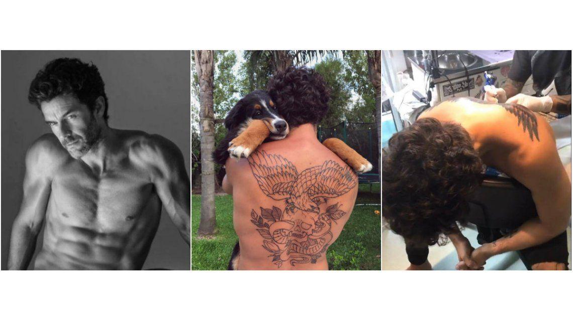 Mariano Martínez mostró cómo está quedando su tatuaje en la espalda