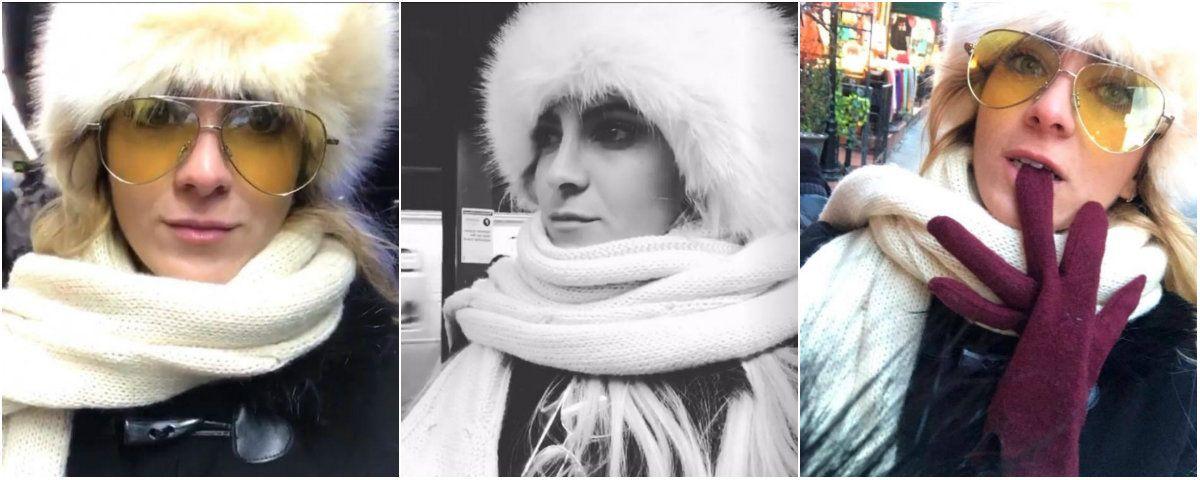 Las ¡congeladas! vacaciones de Cande Ruggeri en Nueva York