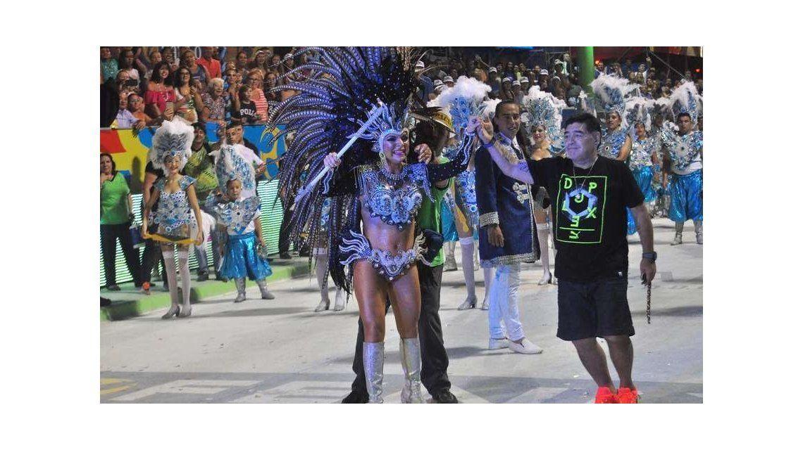 Melisa bailó junto a Diego el fin de semana
