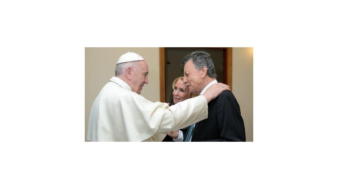 El papa Francisco se reunió con Evangelina Salazar y Palito Ortega en el Vaticano