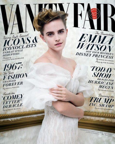 Emma Watson hizo un topless en Vanity Fair