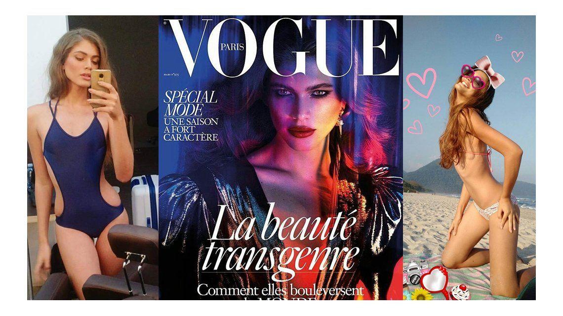 La revista Vogue puso a la transexual Valentina Sampaio en su tapa