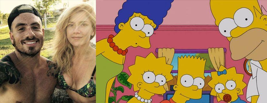Fede Bal y Laurita Fernández sumaron a Los Simpson al histeriqueo