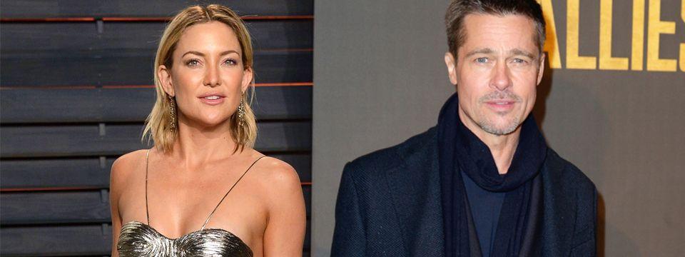 Kate Hudson y Brad Pitt