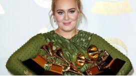 Adele, la gran ganadora de los Premios Grammys