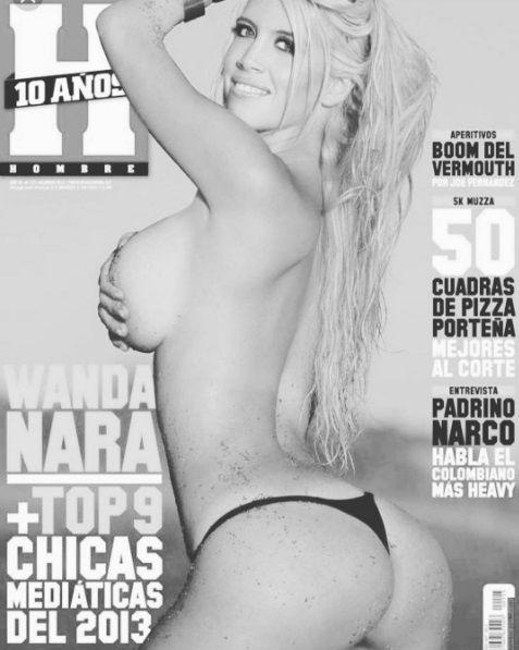 Wanda Nara en Revista Hombre