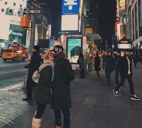 Las fotos del viaje romántico de Ángela Torres con su novio a Nueva York