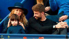 Shakira y Piqué junto a Milan