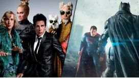 Zoolander 2 y Batman vs Superman encabezan la lista