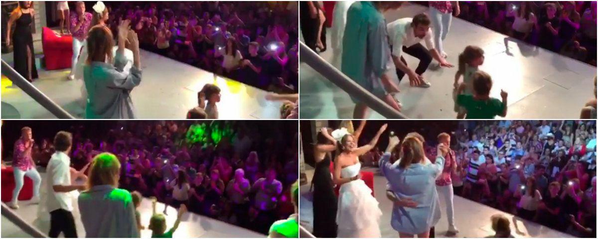 Paula Chaves, Pedro Alfonso y Olivia a puro baile en Carlos Paz
