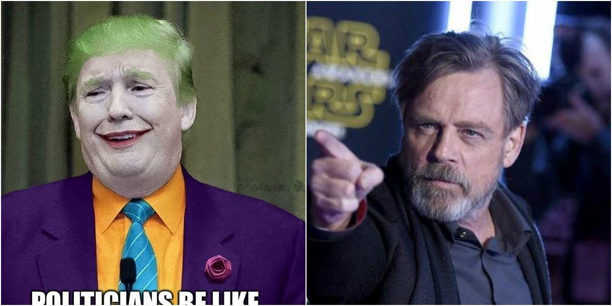 Mark Hamill satiriza a Donald Trump con el Guasón