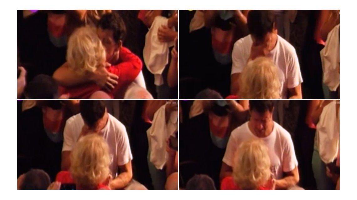 Nico lloró y abrazó a Mirtha