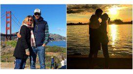 Eugenia Tobal, enamorada con su novio en California