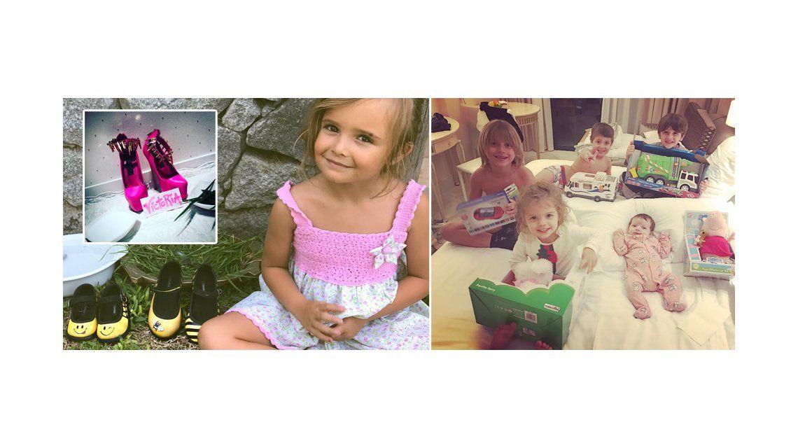 La hija de Melina Pitra y los hijos de Wanda