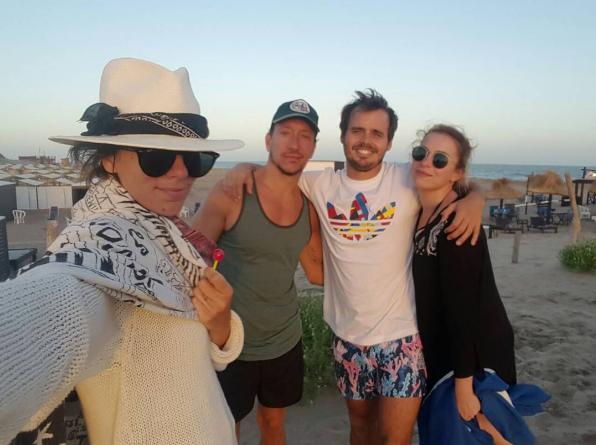 Los actores en Mar del Plata