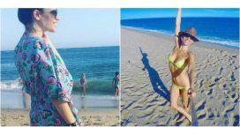 Ivana Figueiras, en la misma playa que Pampita