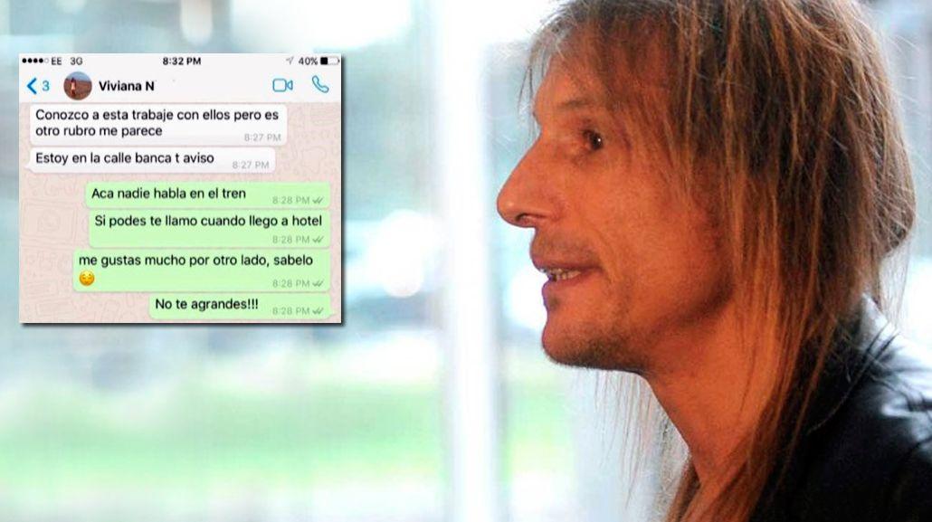 Los chats de Claudio Caniggia con otra mujer