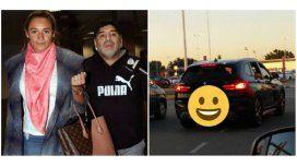 Maradona llegó al país para pasar las fiestas: está con Rocío y Diego Junior