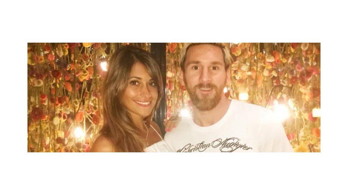 Lionel Messi con su pelo rubio