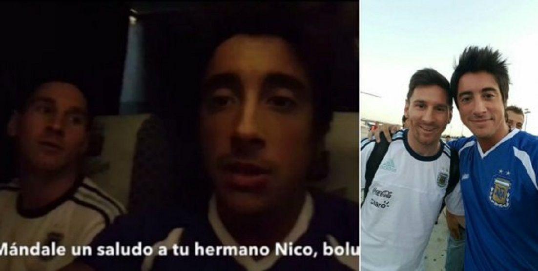 Santiago Vazquez y Leo Messi