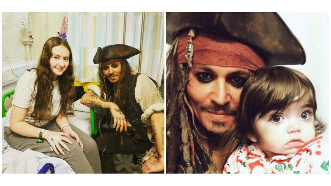Johnny Depp visitò un hospital de niños en Londres.