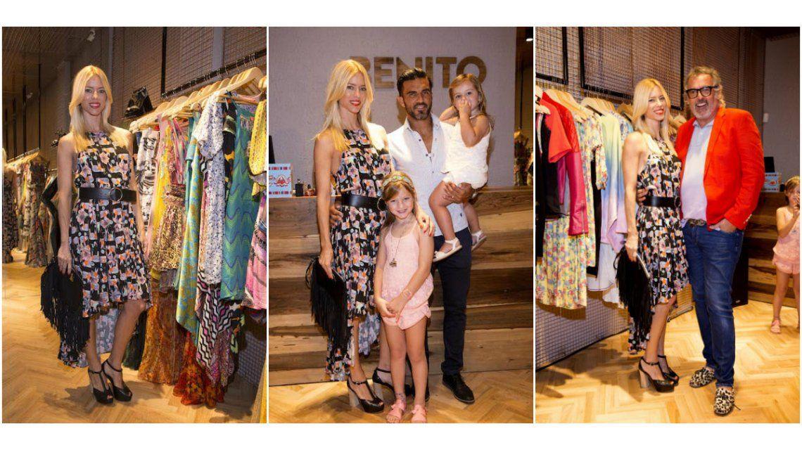 Nicole Neumann y Fabián Cubero asistieron juntos a un evento con dos de sus hijas.